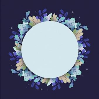 Marco floral con espacio en blanco