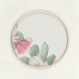 Marco floral floreciente rosa