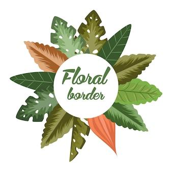 Marco floral de la frontera tropical