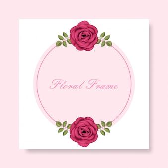 Marco floral con hermosos adornos florales