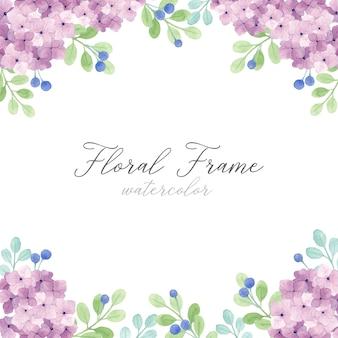Marco floral de hortensia