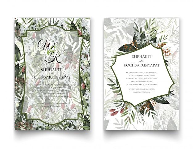 Marco floral para invitaciones y gráficos.