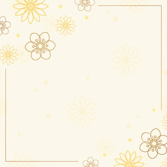 Marco floral marron