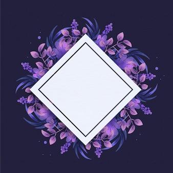 Marco floral plano con espacio vacío