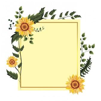 Marco floral de primavera