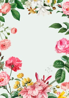 Marco floral rosa
