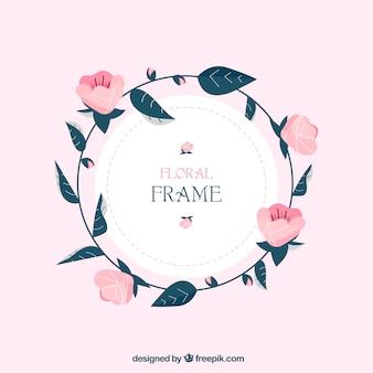 Marco floral con rosas adorables