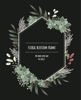 Marco floral para tarjetas de invitación y gráficos.