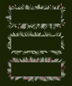 Marco floral verde para tarjetas de invitación y gráficos.
