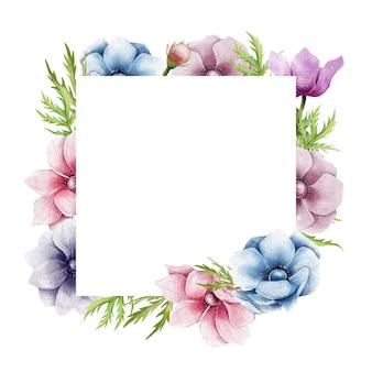 Marco de flores de anémona