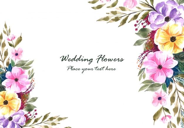 Marco de flores decorativas de boda