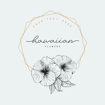Marco de flores hawaianas