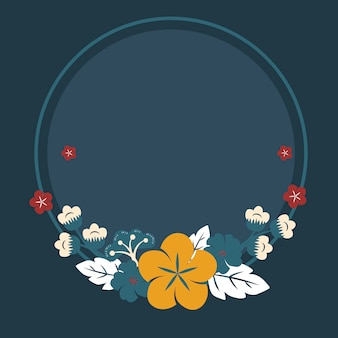 Marco de flores japonesas