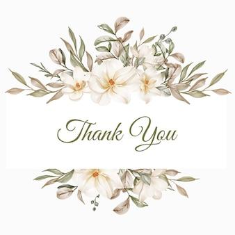 Marco de flores de magnolia blanca ilustración para boda