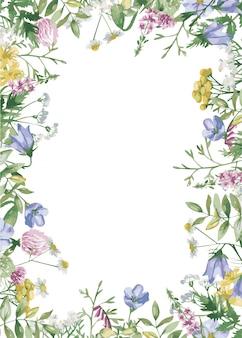 Marco de flores del prado
