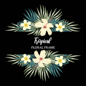 Marco de flores tropicales