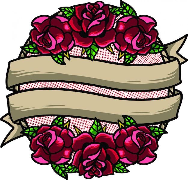 Marco de flores de la vieja escuela