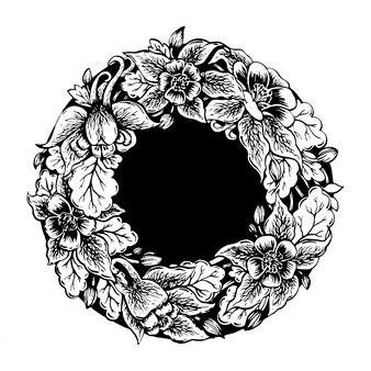 Marco de flores.