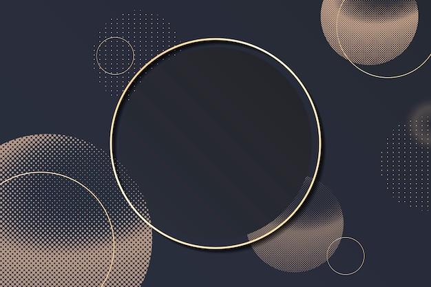 Marco de fondo de círculo de semitono