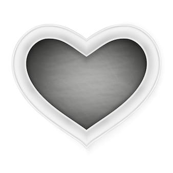 Marco en forma de corazón negro.