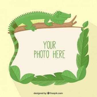 Marco de foto de lagarto
