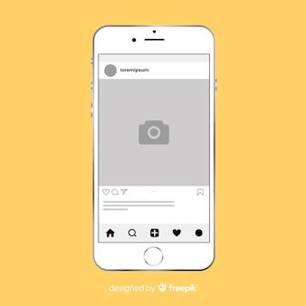 Marco de foto plano instagram