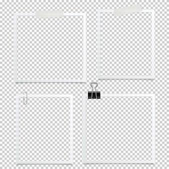 Marco de fotos aislado. diseño de foto de plantilla.