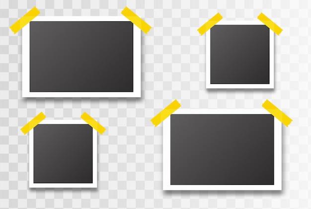 Marco de fotos aislado. ilustración vectorial