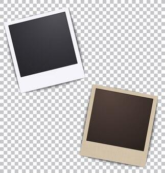 Marco de fotos en blanco un plaid con sombra