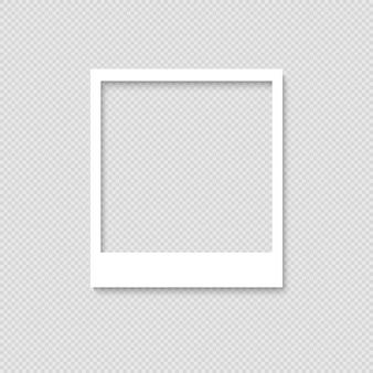 Marco de fotos en blanco. plantilla para el diseño