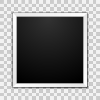 Marco de fotos en blanco