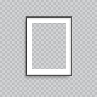Marco de fotos cuadrado transparente realista