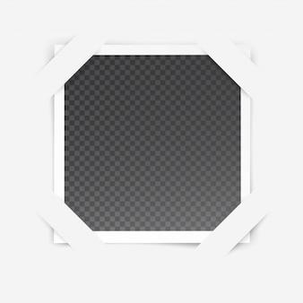 Marco de fotos con efecto especial transparente aislado dentro del marco