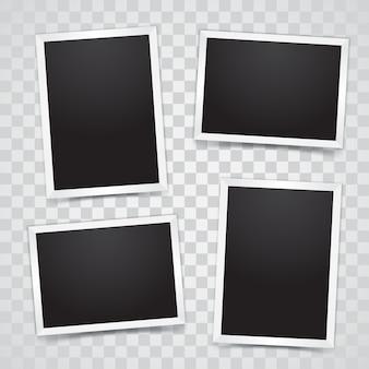 Marco de fotos con fondo transparente