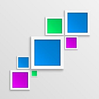 Marco de fotos geométrico abstracto en 3d.