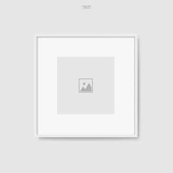 Marco de fotos de madera o marco de fotos para decoración y diseño de interiores. ilustración vectorial.