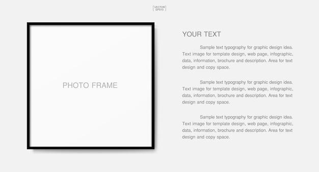 Marco de fotos de madera o marco de fotos para decoración y diseño de interiores