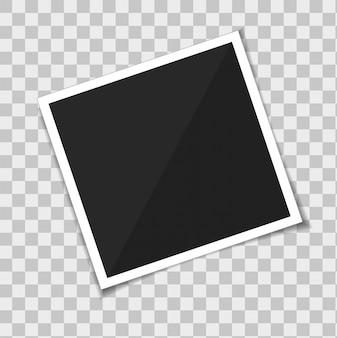 Marco de fotos de plantilla de vector