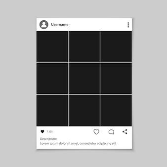 Marco de fotos de redes sociales