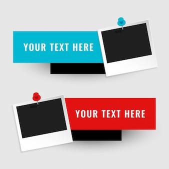 Marco de fotos vacío con espacio de texto