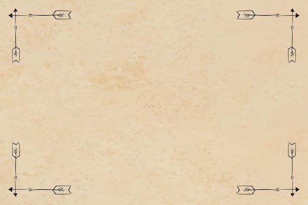 Marco frontera adorno de flecha bohemia