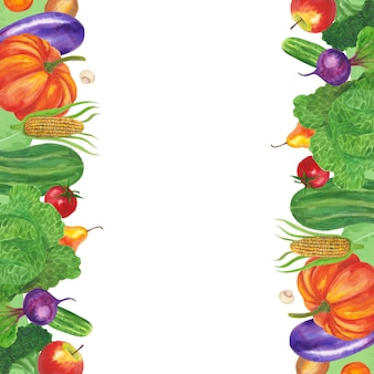 Marco de frutas y verduras