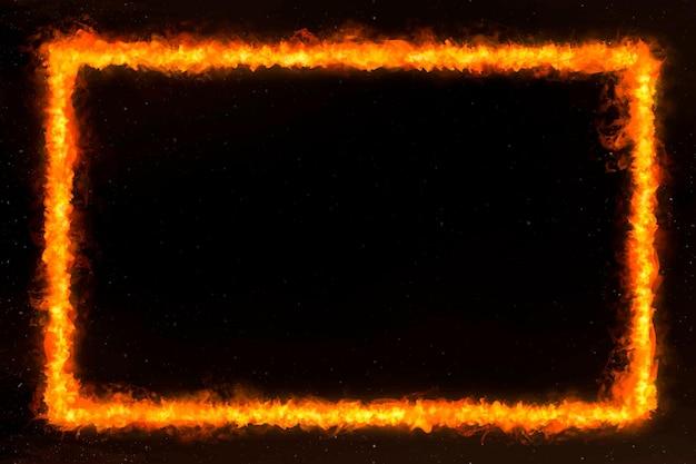 Marco de fuego rectángulo naranja