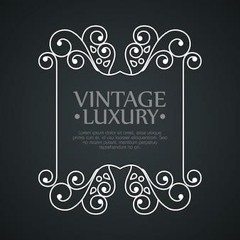 Marco gráfico para etiqueta con decoración ornamental.