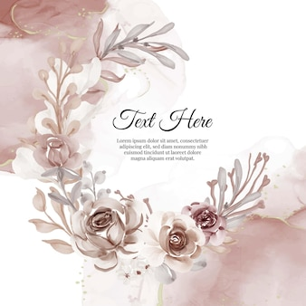 Marco de guirnalda de flores de terracota de flores