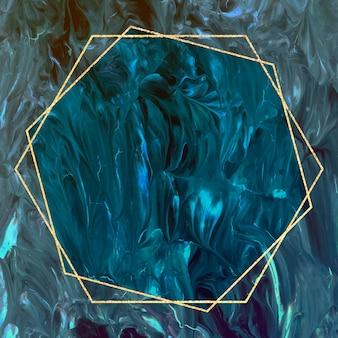 Marco hexagonal en vector de fondo abstracto