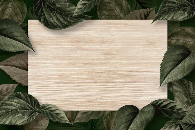Marco de la hoja del bosque