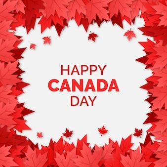 Marco de hojas de arce día nacional de canadá