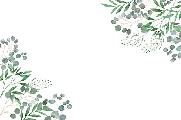Marco de hojas copia espacio