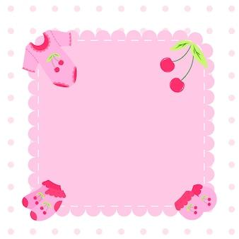 Marco de los iconos de los niños. tarjeta de felicitación para bebé.